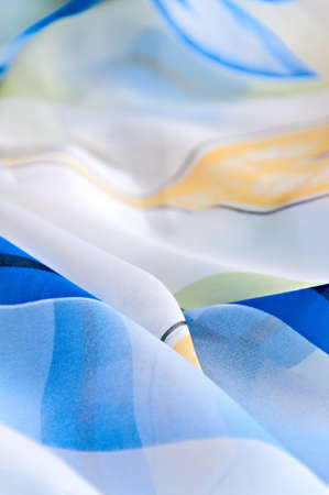 Abstract background - Carelessly combined blue bright fabric photo