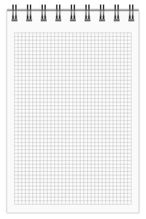 Blank Notepad, squared.  Stock Vector - 17282757