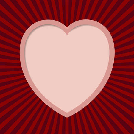 Valentine card with cute heart Stock Vector - 17667172