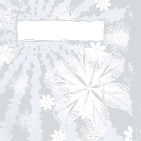 cleaned: Grunge Floral Background with space for text  EPS10 vector illustration  Grunge effect can be cleaned easily