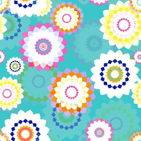 Seamless Background - stylized flowers  EPS10 vector  Stock Vector - 17667264