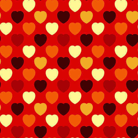 Abstract decorative seamless background - hearts  EPS10 vector illustration  Vector