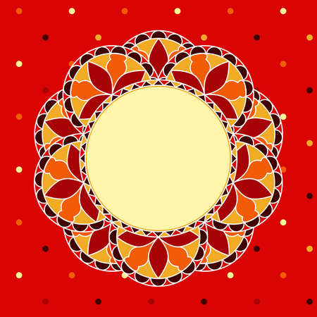 Abstract decorative background - Stylized mosaic flower, with space for text or image  EPS10 vector  Vector