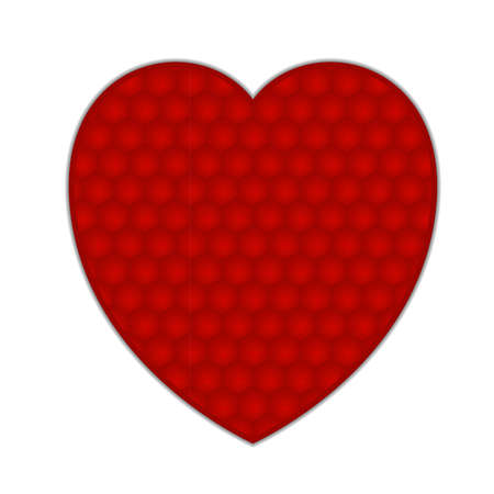 Red heart with cell texture, isolated on a white background. EPS10 vector. Stock Vector - 17667244