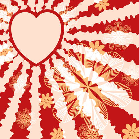 Red floral valentine background. EPS10 vector illustration. Stock Vector - 17667218