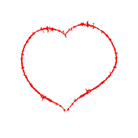 Scrawled heart, author brush. EPS10 vector. Vector