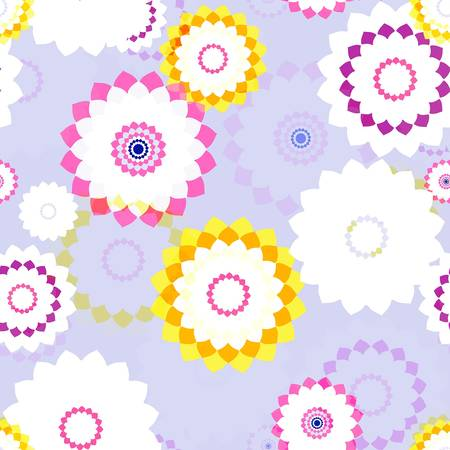 aster: Seamless background - stylized aster flowers. EPS10 vector.