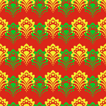 Seamless background - abstract flowers on a red. EPS10 vector. Stock Vector - 18312991