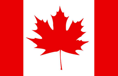 canadian icon: Stylized Canadian flag. EPS10 vector illustration.