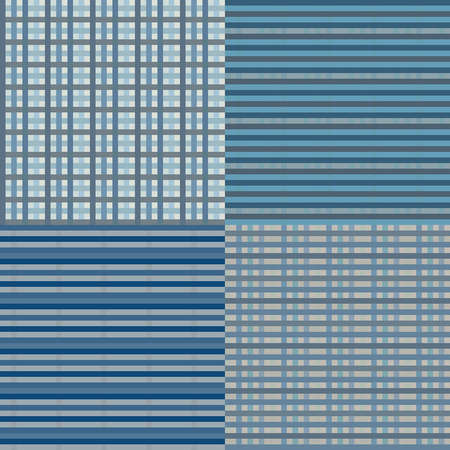 Checkered seamless backround in blue colors. EPS10 vector. Vector