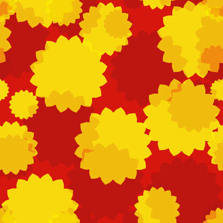 Yellow flowers seamless background  EPS10 vector  Stock Vector - 19575016