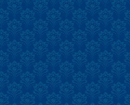 Seamless background - abstract blue flowers vector  Vector