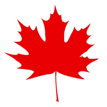 maple leaf: Stylized Canadian flag vector illustration