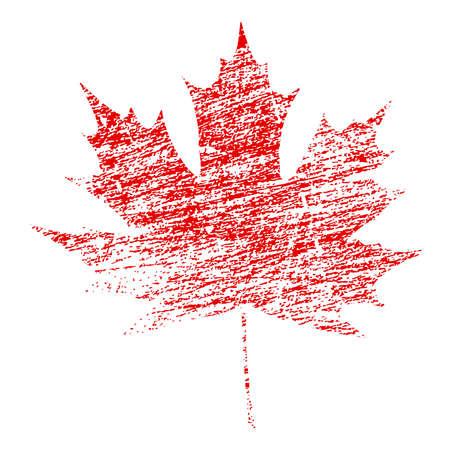 Red Maple Leaf in abstrakte Grunge gemalt Textur Vektor-Illustration Standard-Bild - 21057933