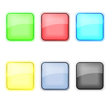 Set of color apps icons in pastel tones vector  Stock Vector - 21057941