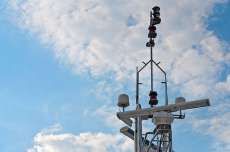 Navigation equipment of the passenger ship. photo