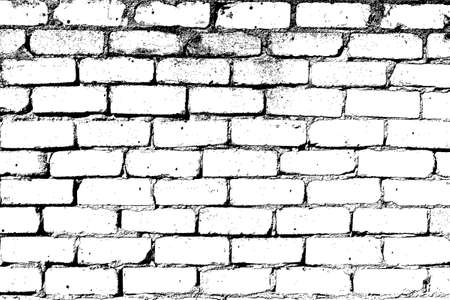 brick facades: Brick wall overlay texture - for your design Illustration