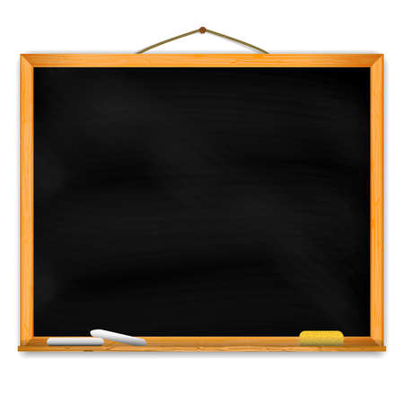 Chalkboard with space for your text. EPS10 vector. Stock Illustratie