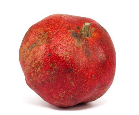 pomergranate: Pomergranate fresh ripe fruit, isolated on a white background.