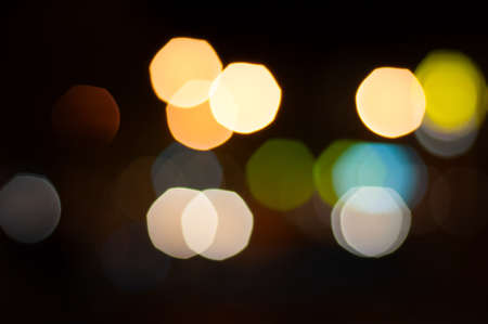 Big Bokeh lights of a night city.  photo