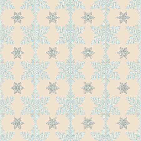 Simple snowflake seamless background for your design.  Vector