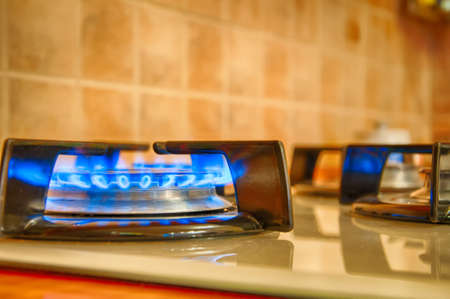 Gas Torch on the kitchen. Closeup. Hdr image.