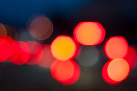 Road Lights - bokeh lights from cars stoplight at night. photo