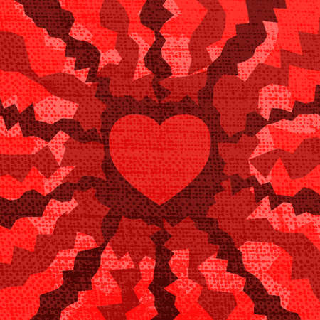 Fire heart valentine  Vector