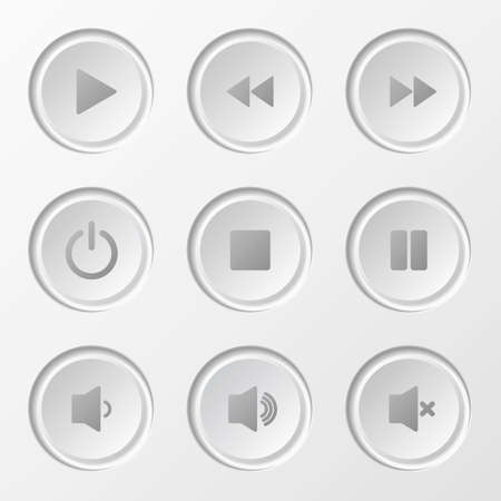 Navigation Button Set for media player. Vector