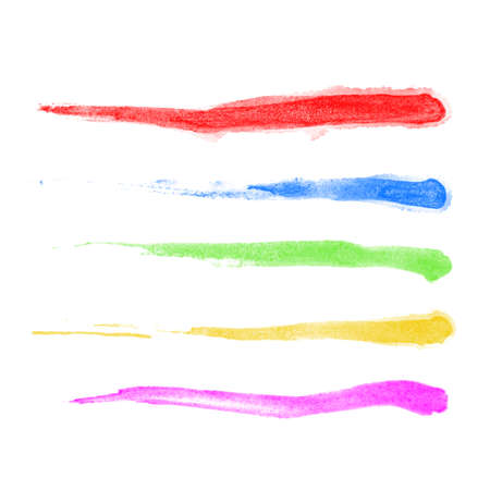 Watercolor Brushes - set of 5 hi-quality watercolor brushes.  Vector