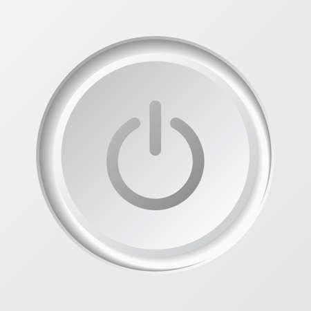Power Button icon. EPS10 vector illustration. Stock Vector - 26056677