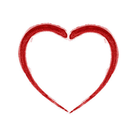 Red Brushed Heart on a white background. EPS10 vector. Vector