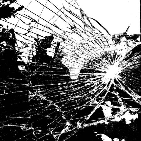 cristal roto: Textura Superposición Broken Glass Vectores