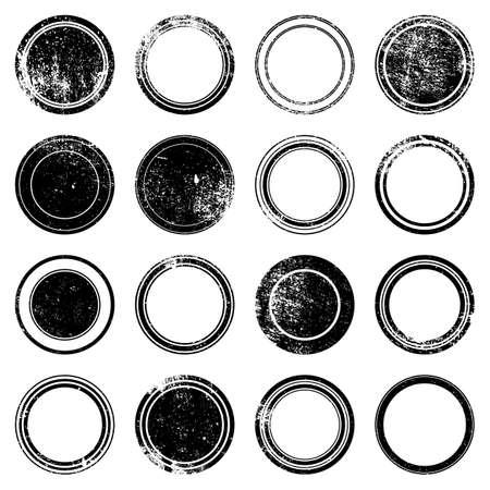 marcos redondos: Grunge sello - juego de superposición grunge sello textura