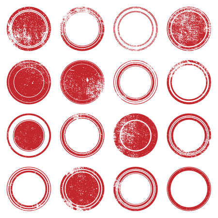 Grunge stamp - set of grunge overlay stamp texture for your design.