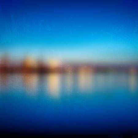 harbour: Vista di notte offuscata del porto porto. Effetto grunge pu� essere facilmente pulito. EPS10 vettore.
