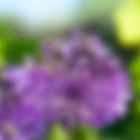 allium: Blurred floral background, grunge effect can be cleaned easily.    Illustration