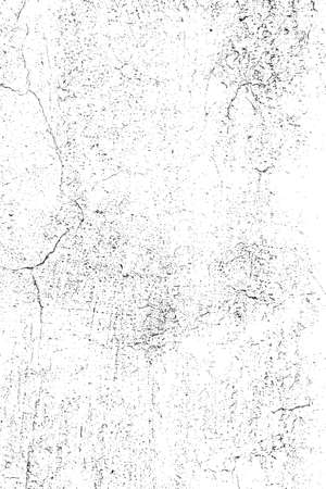Grunge Overlay Texture - Cracked Plaster  vector  Illustration