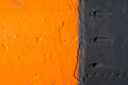 bordered: Contrast Orange Background - bright orange paint bordered with black paint.