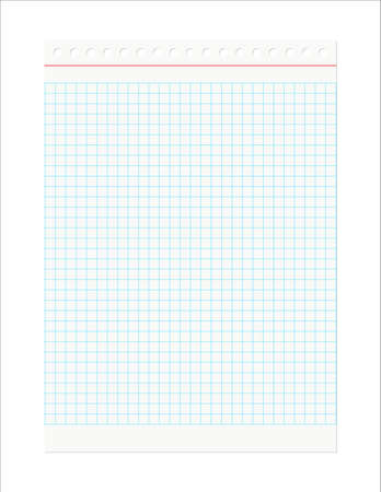 Retro Notebook Sheet isolated on a white background. EPS10 vector. Vector