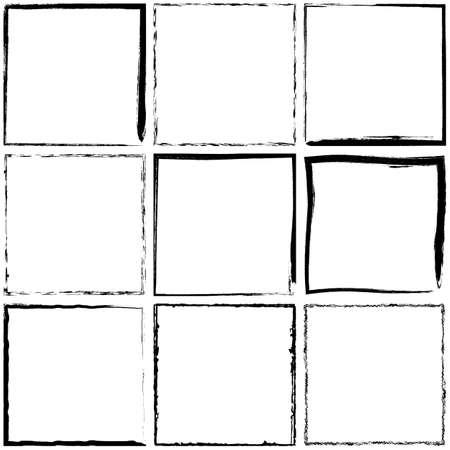 Grunge Frame Set for your design. EPS10 vector.