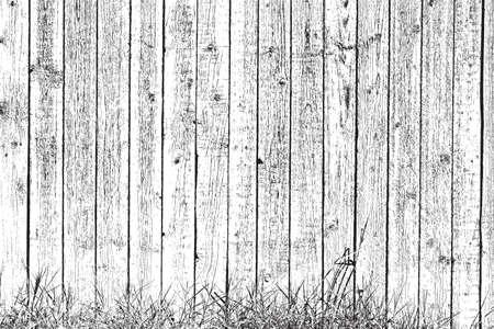 オーバーレイ テクスチャ木製の板と草 - あなたの設計のための背景。  イラスト・ベクター素材