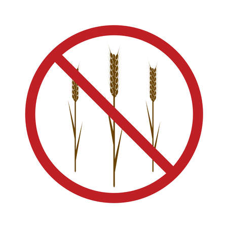 wheaten: Gluten Free Icon for your design. EPS10 vector image.