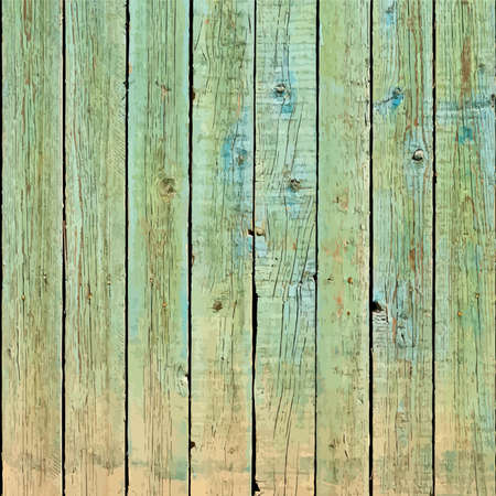 wooden fence: Wooden planks with old paint - background for your design. EPS10 vector.
