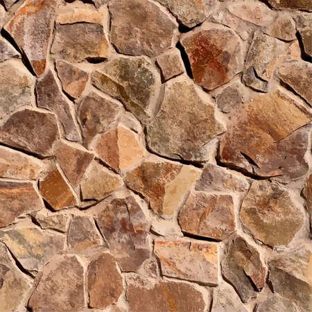 ashlar: Wild Stone Wall texture for your design. EPS10 vector.