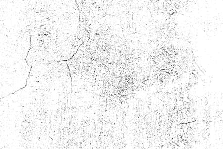 Grunge Overlay Texture - Cracked Plaster. EPS10 vector.