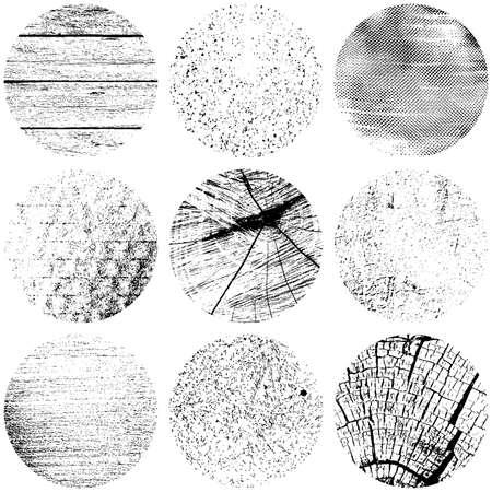 Textures détresse du Cercle fixés Banque d'images - 32541742