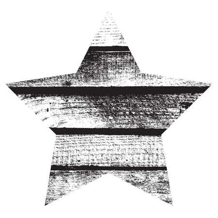 Wooden Star Overlay Texture  Vector