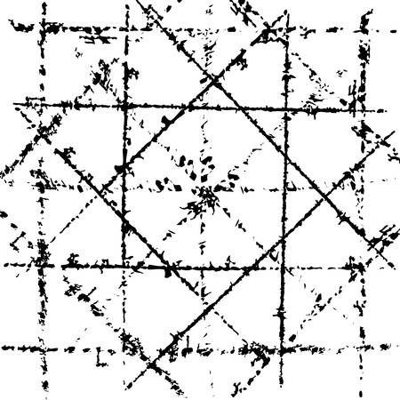 diagonale: Scratched grid overlay texture.  Illustration