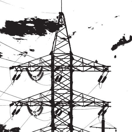electric tower: Overlay texture for your design - electric tower. EPS10 vector. Illustration